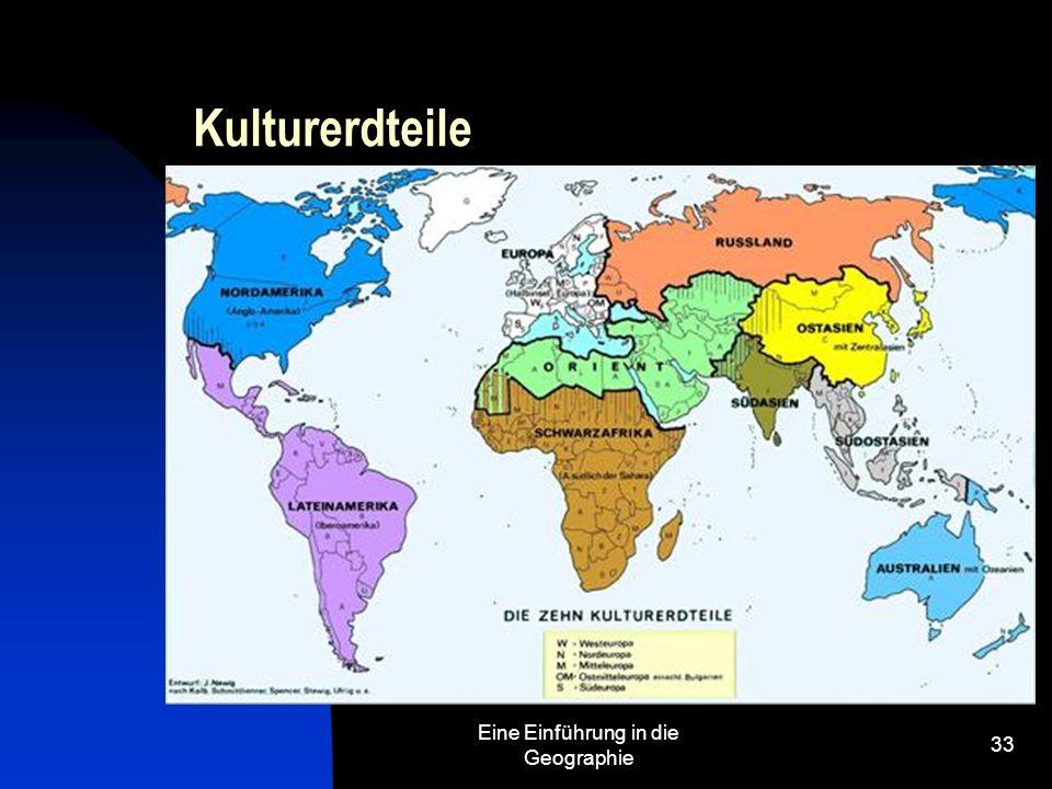 Eine Einführung in die Geographie