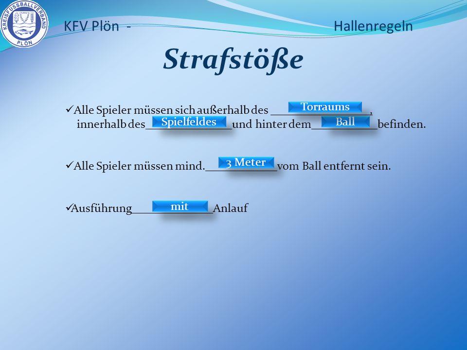 KFV Plön - Hallenregeln