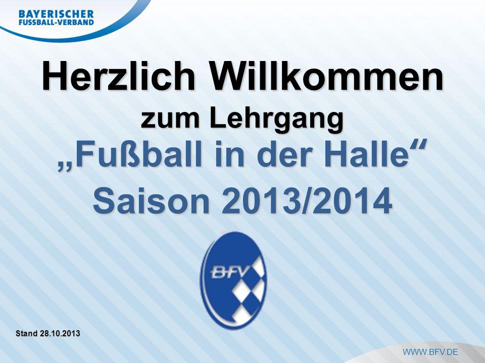 """Herzlich Willkommen """"Fußball in der Halle Saison 2013/2014"""