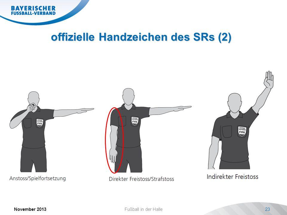 offizielle Handzeichen des SRs (2)