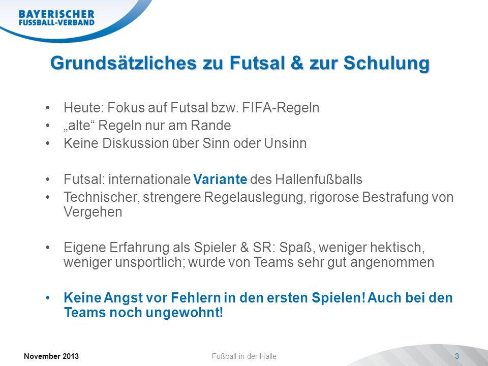 Grundsätzliches zu Futsal & zur Schulung