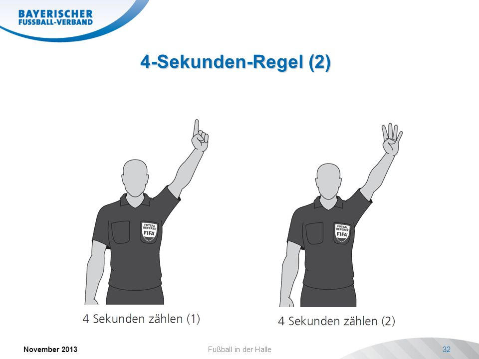 4-Sekunden-Regel (2) November 2013 Fußball in der Halle