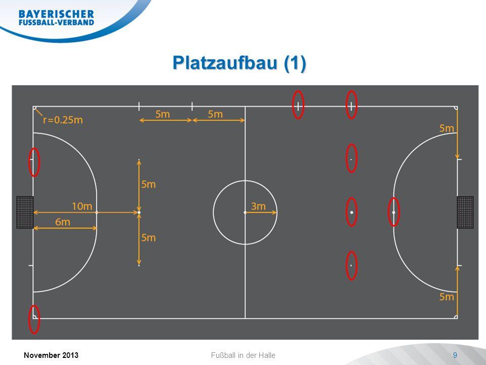 Platzaufbau (1) November 2013 Fußball in der Halle