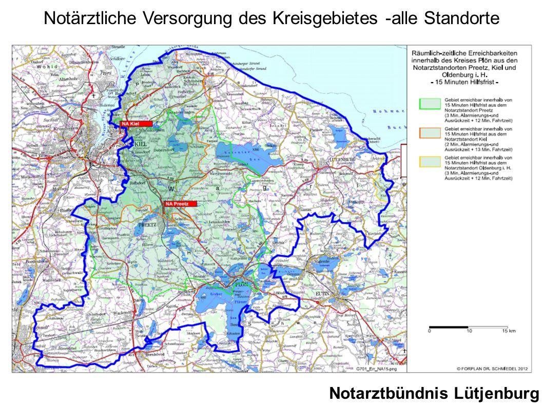 Notärztliche Versorgung des Kreisgebietes -alle Standorte