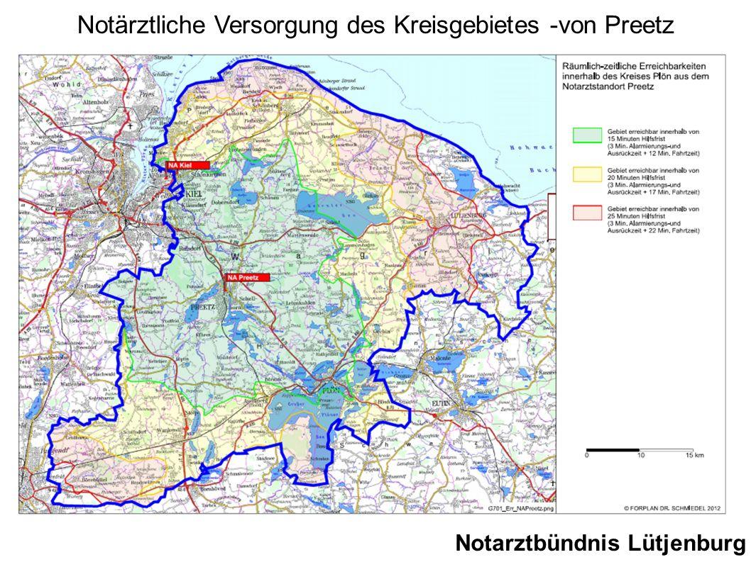 Notärztliche Versorgung des Kreisgebietes -von Preetz
