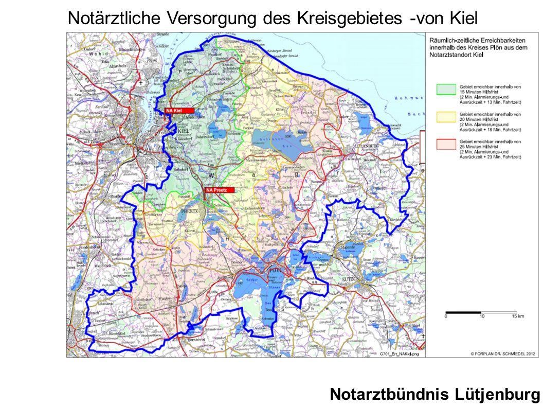 Notärztliche Versorgung des Kreisgebietes -von Kiel
