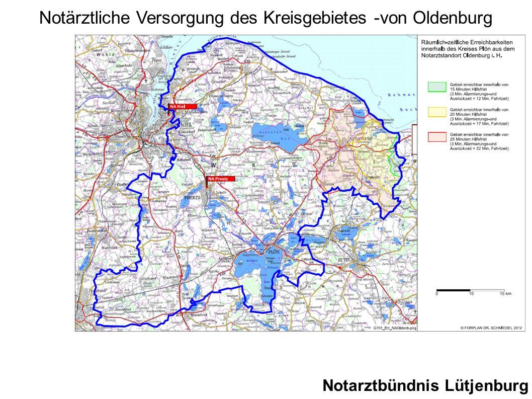 Notärztliche Versorgung des Kreisgebietes -von Oldenburg