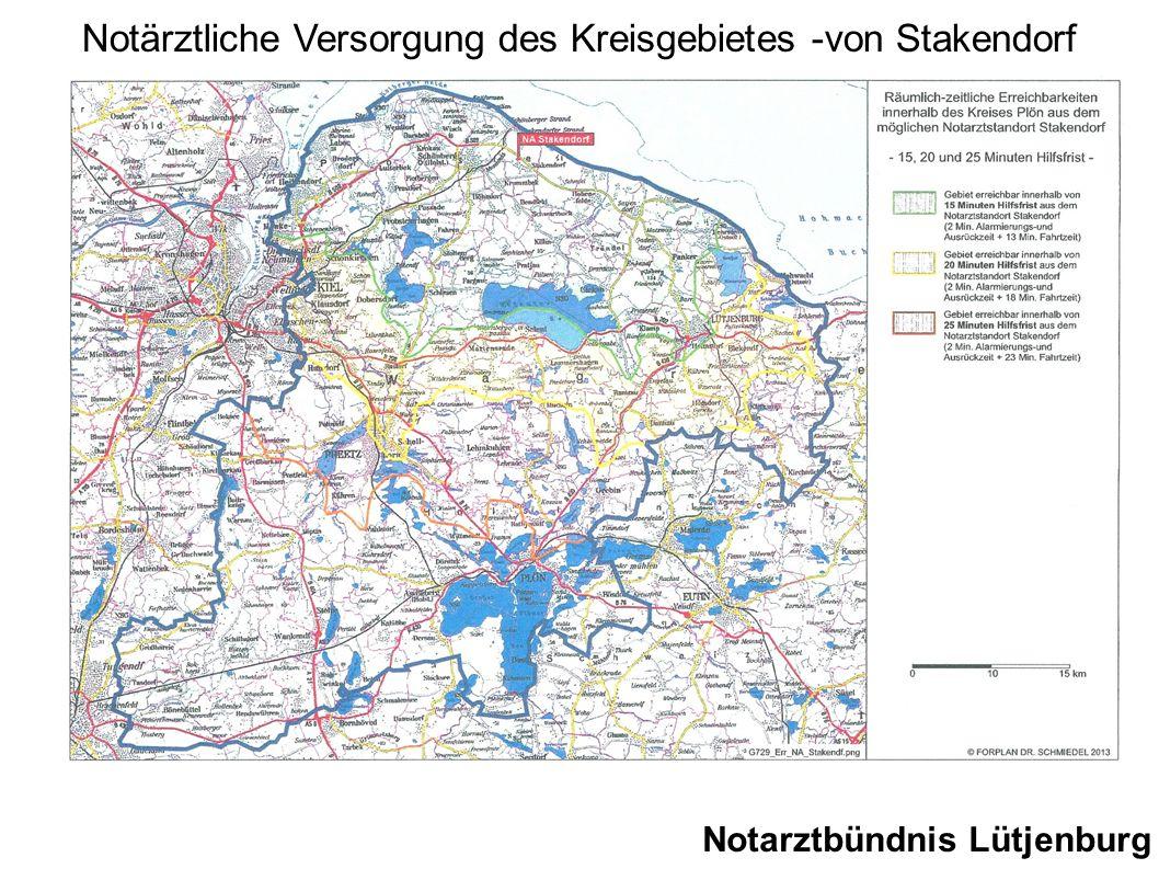Notärztliche Versorgung des Kreisgebietes -von Stakendorf