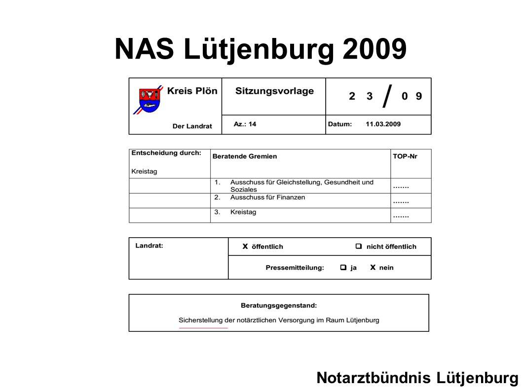 NAS Lütjenburg 2009 Notarztbündnis Lütjenburg