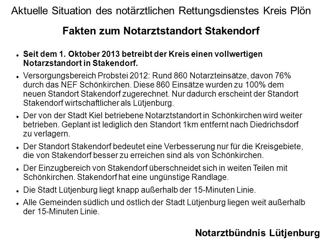 Fakten zum Notarztstandort Stakendorf