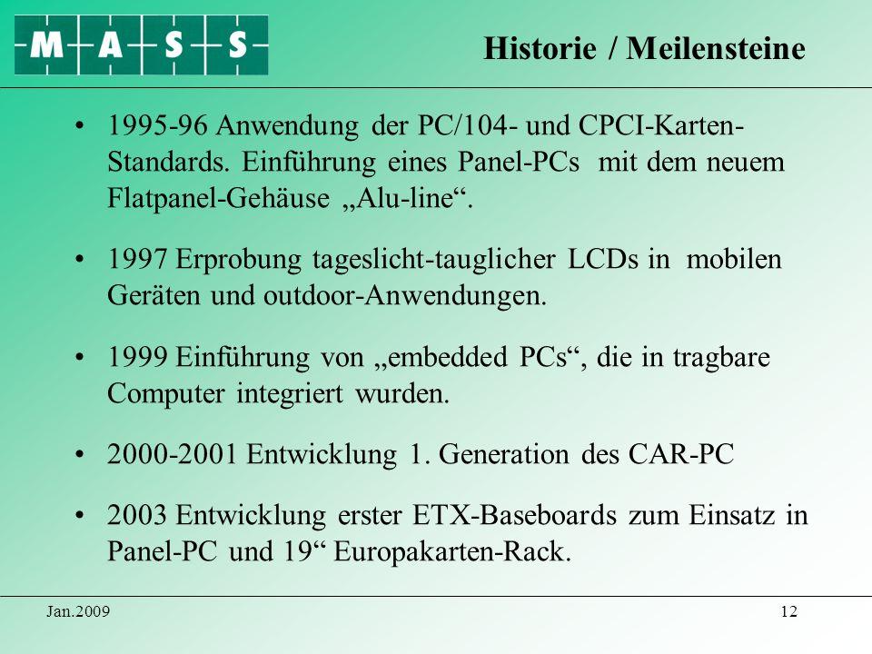 Historie / Meilensteine