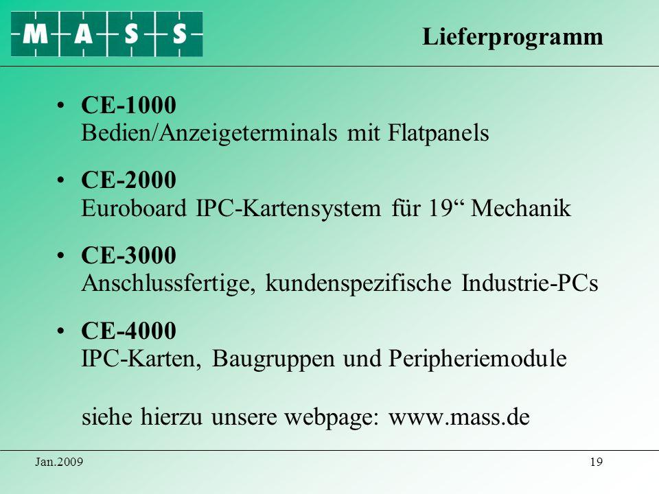 CE-1000 Bedien/Anzeigeterminals mit Flatpanels