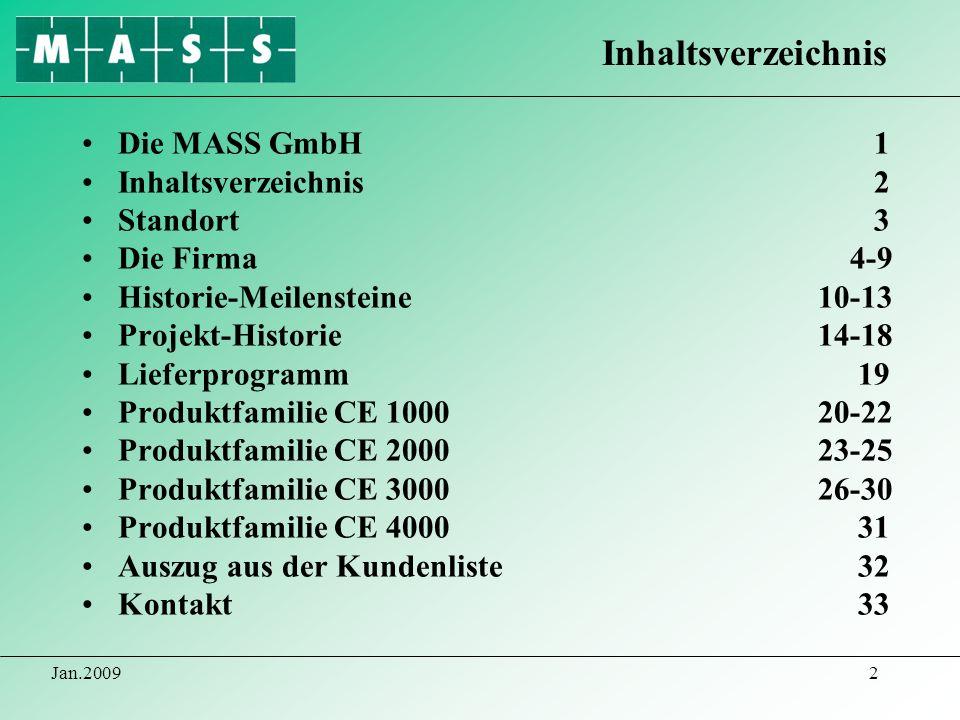 Inhaltsverzeichnis Die MASS GmbH 1 Inhaltsverzeichnis 2 Standort 3