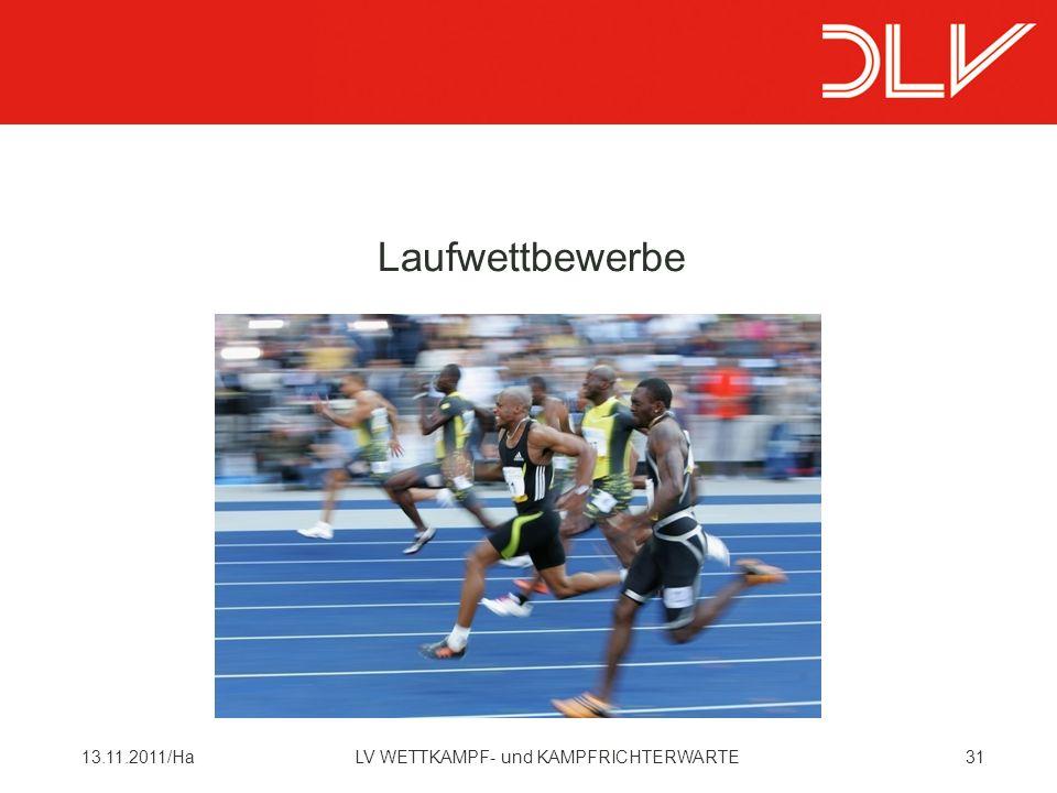 Laufwettbewerbe 13.11.2011/Ha LV WETTKAMPF- und KAMPFRICHTERWARTE
