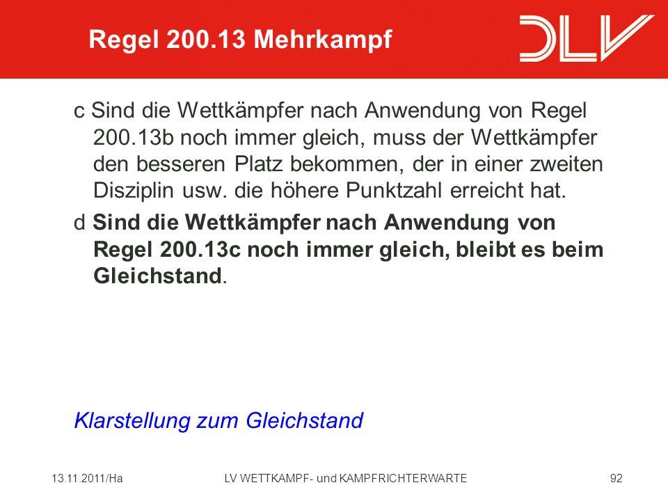 Regel 200.13 Mehrkampf