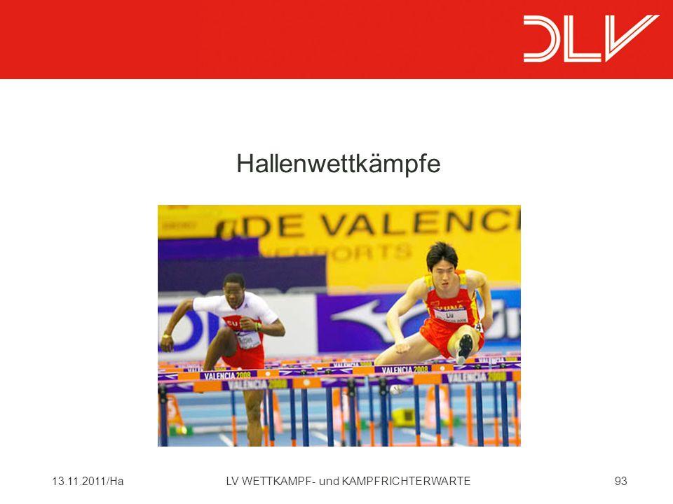 Hallenwettkämpfe 13.11.2011/Ha LV WETTKAMPF- und KAMPFRICHTERWARTE
