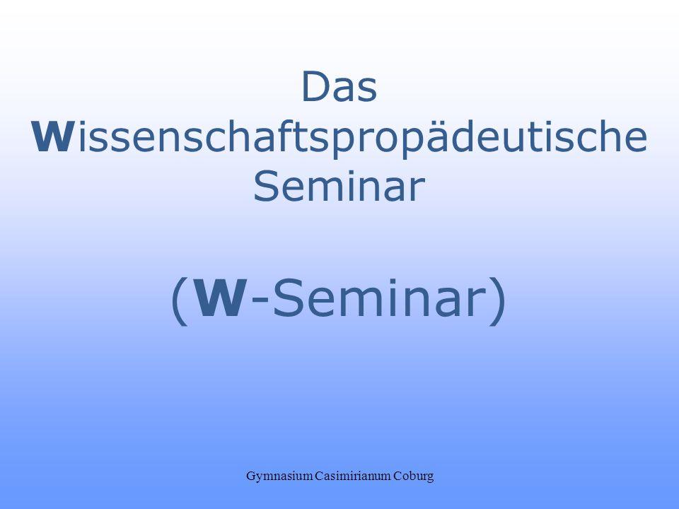 (W-Seminar) Das Wissenschaftspropädeutische Seminar