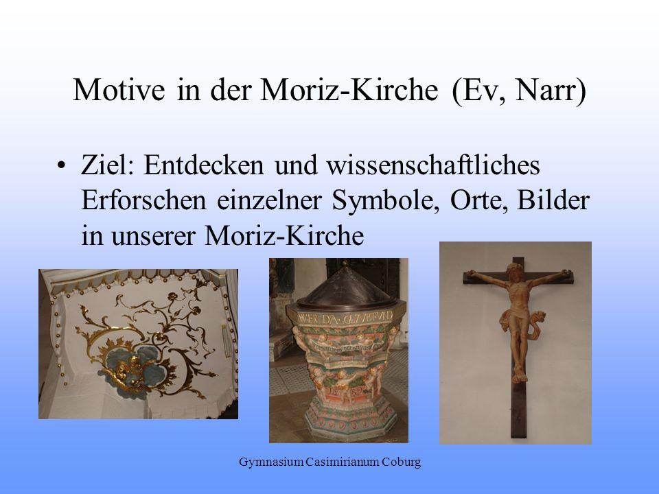 Motive in der Moriz-Kirche (Ev, Narr)
