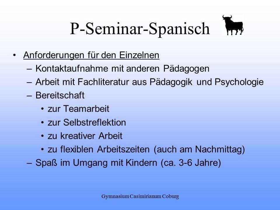 P-Seminar-Spanisch Anforderungen für den Einzelnen