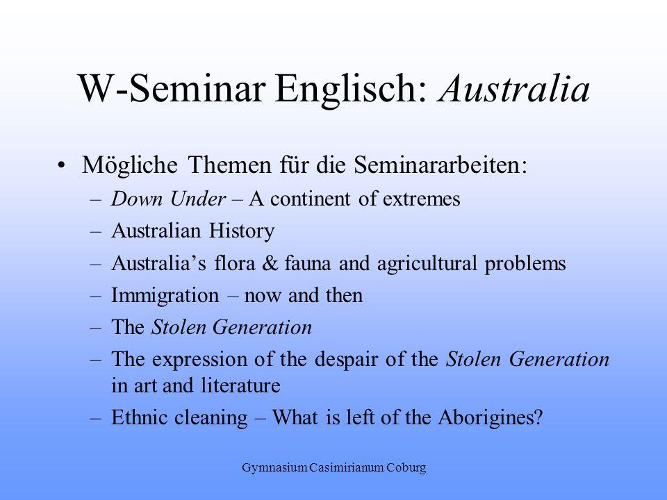 W-Seminar Englisch: Australia