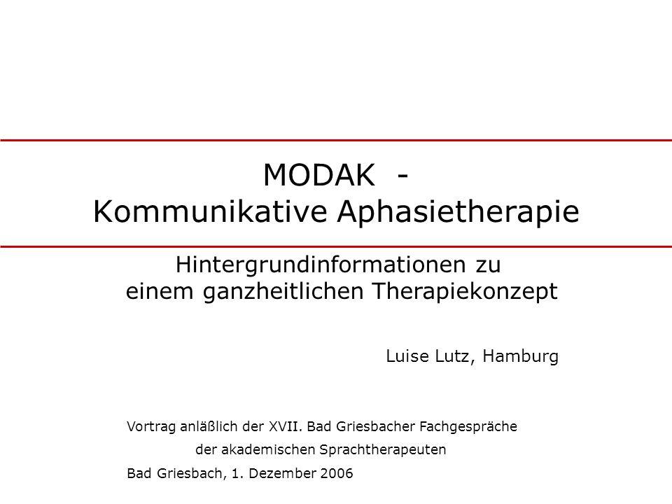 MODAK - Kommunikative Aphasietherapie