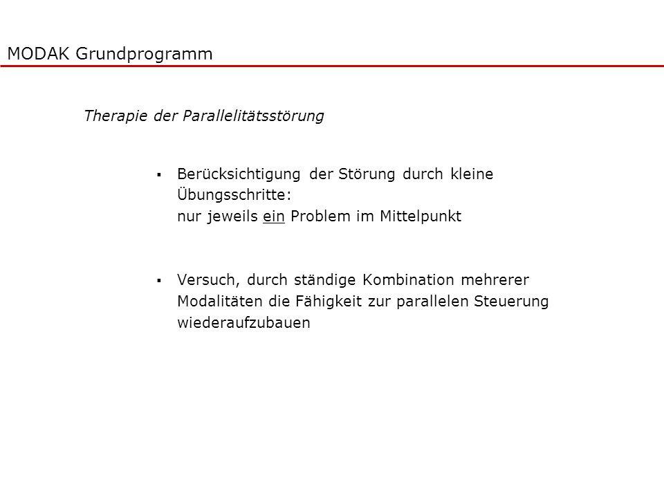 MODAK Grundprogramm Therapie der Parallelitätsstörung