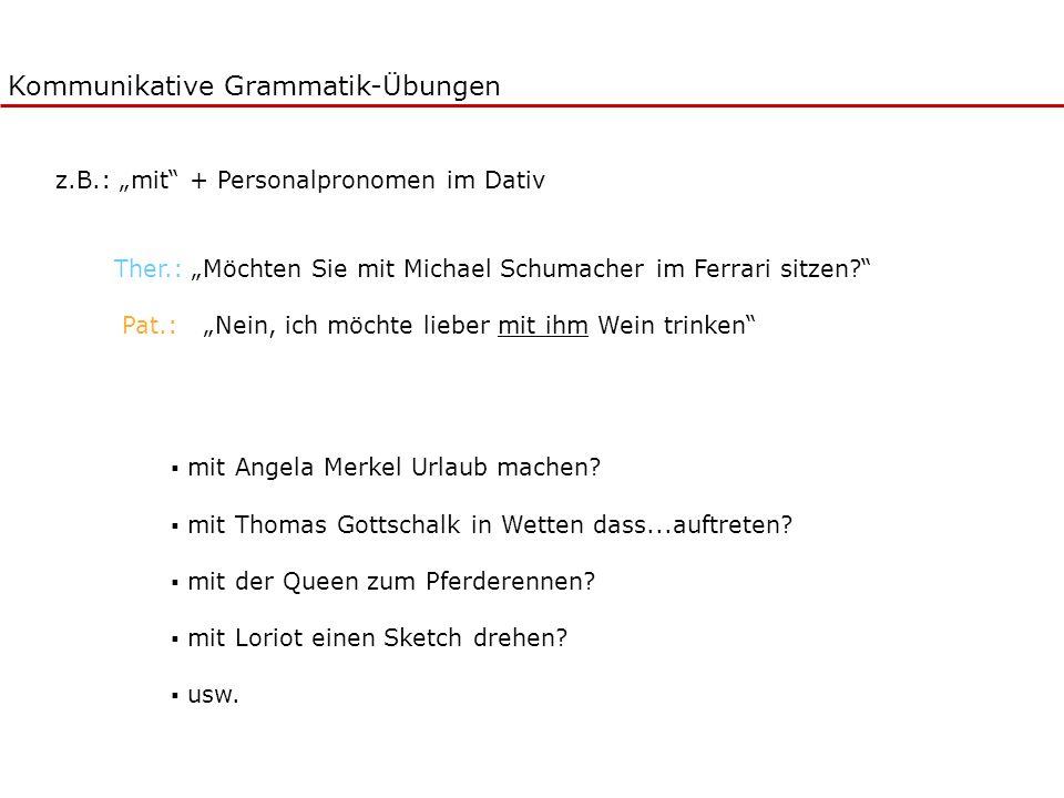 Kommunikative Grammatik-Übungen