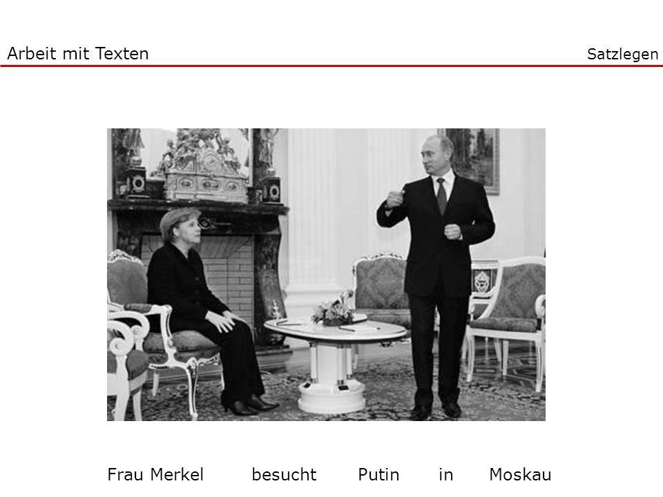 Frau Merkel besucht Putin in Moskau
