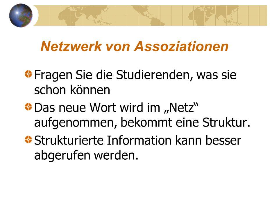 Netzwerk von Assoziationen