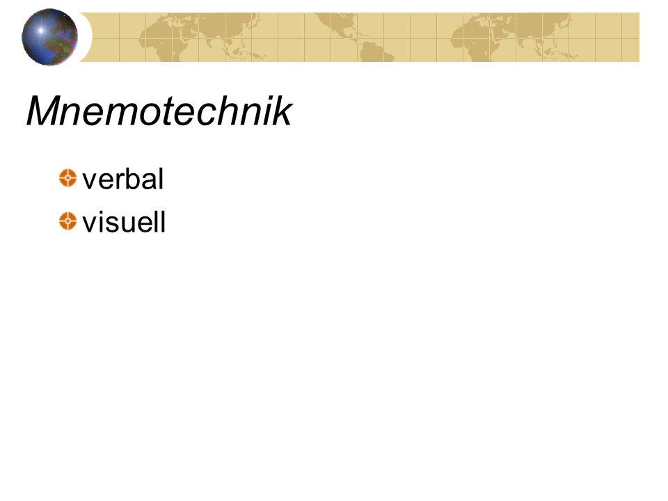 Mnemotechnik verbal visuell
