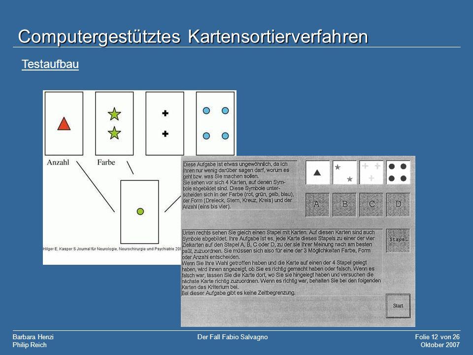 Computergestütztes Kartensortierverfahren
