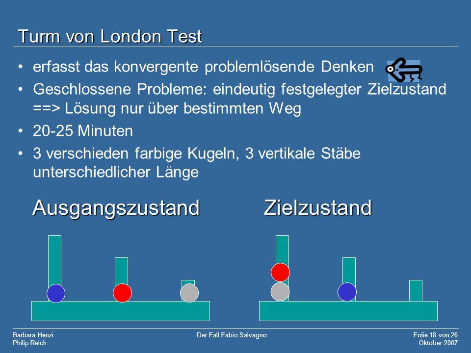 Ausgangszustand Zielzustand Turm von London Test