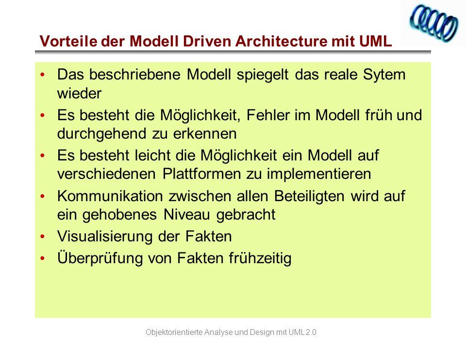 Vorteile der Modell Driven Architecture mit UML