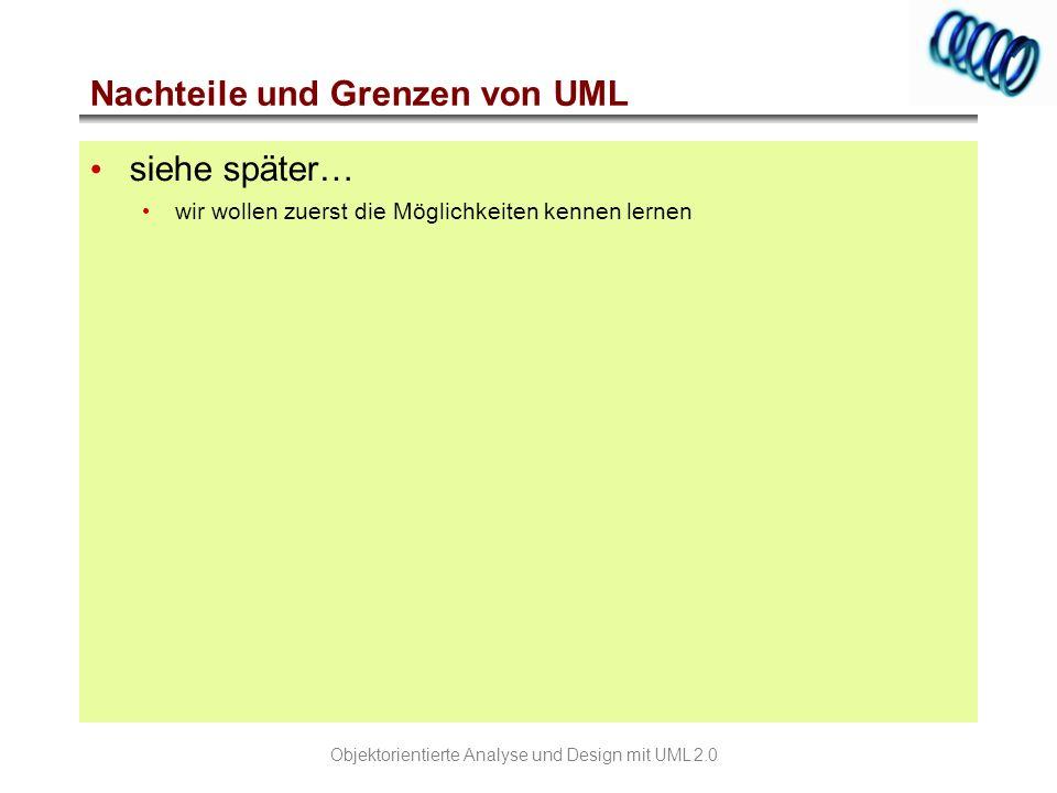 Nachteile und Grenzen von UML