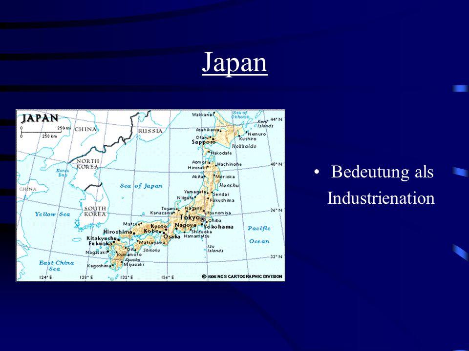 Japan Bedeutung als Industrienation