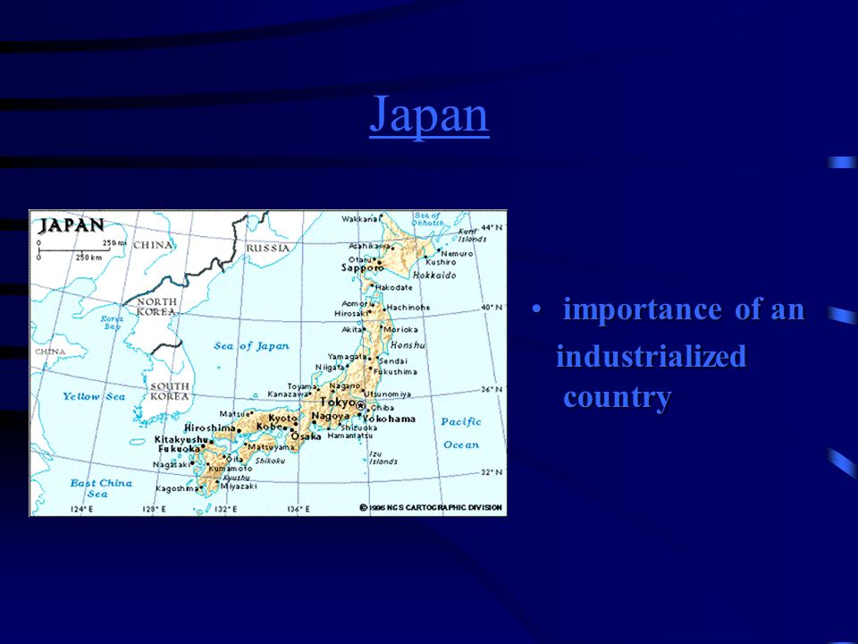 Japan importance of an industrialized country