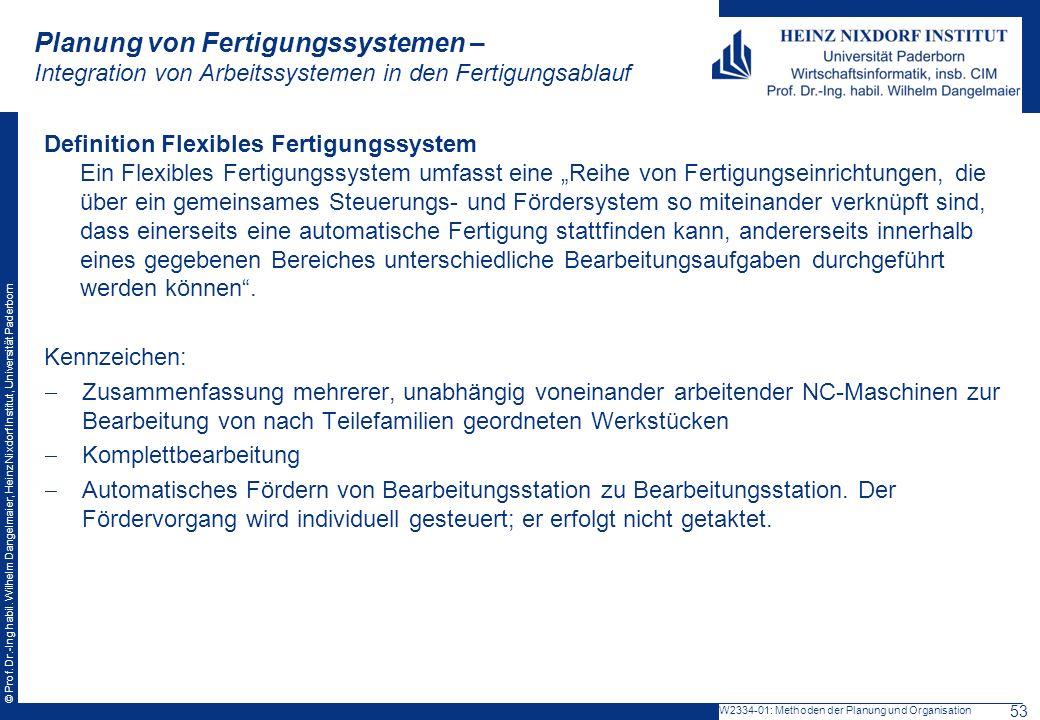 Planung von Fertigungssystemen – Integration von Arbeitssystemen in den Fertigungsablauf