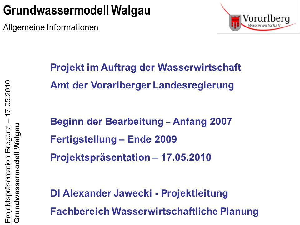 Grundwassermodell Walgau