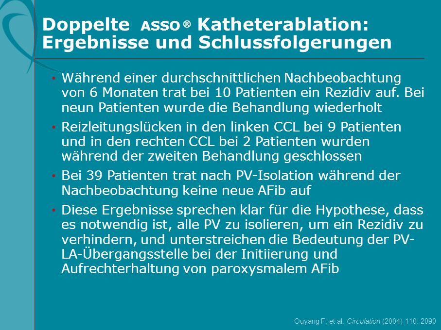 Doppelte ASSO ® Katheterablation: Ergebnisse und Schlussfolgerungen