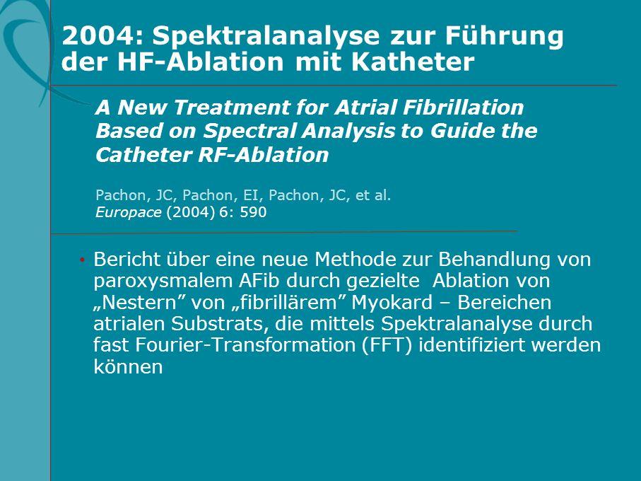 2004: Spektralanalyse zur Führung der HF-Ablation mit Katheter