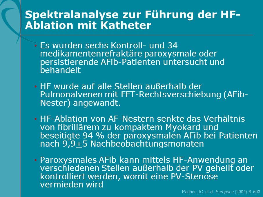Spektralanalyse zur Führung der HF-Ablation mit Katheter