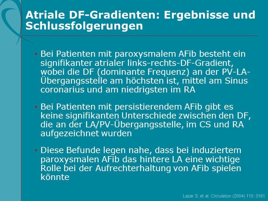 Atriale DF-Gradienten: Ergebnisse und Schlussfolgerungen