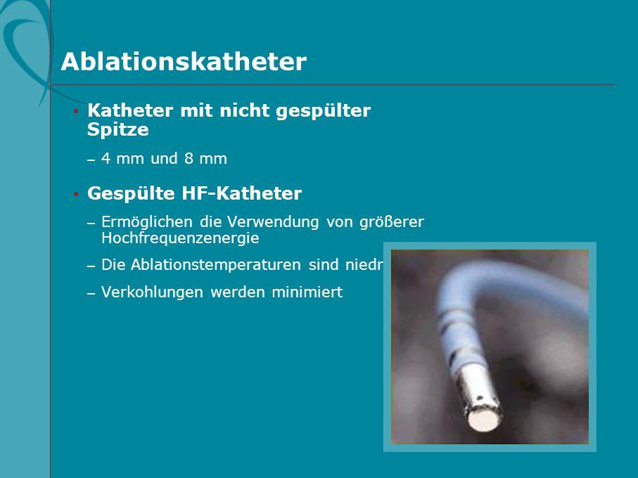 Ablationskatheter Katheter mit nicht gespülter Spitze