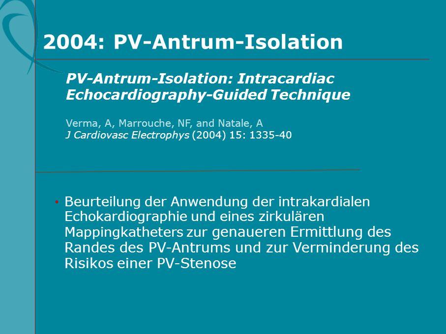 2004: PV-Antrum-Isolation