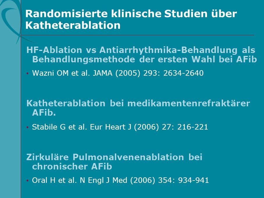 Randomisierte klinische Studien über Katheterablation