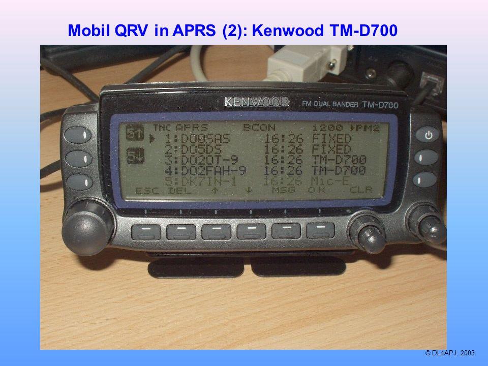 Mobil QRV in APRS (2): Kenwood TM-D700