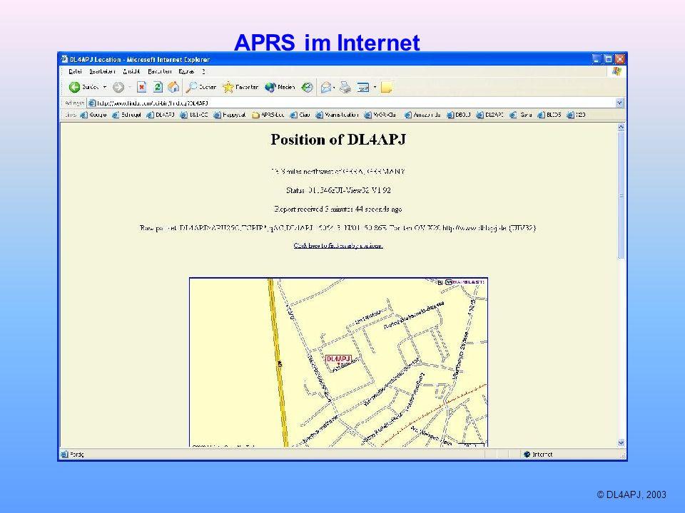 APRS im Internet © DL4APJ, 2003