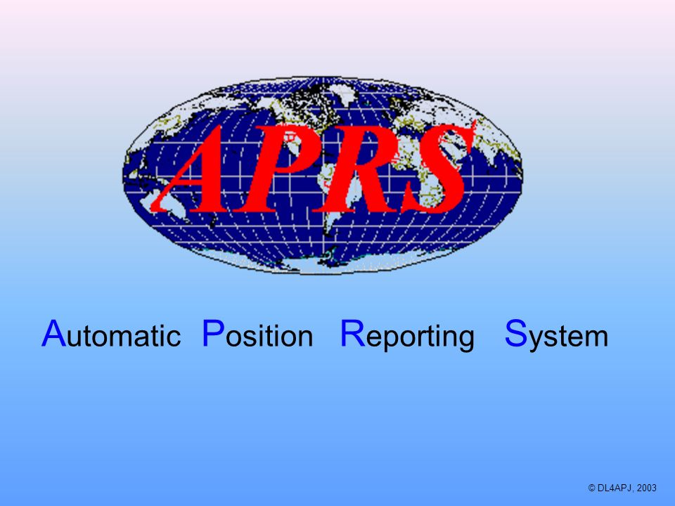 Automatic Position Reporting System © DL4APJ, 2003