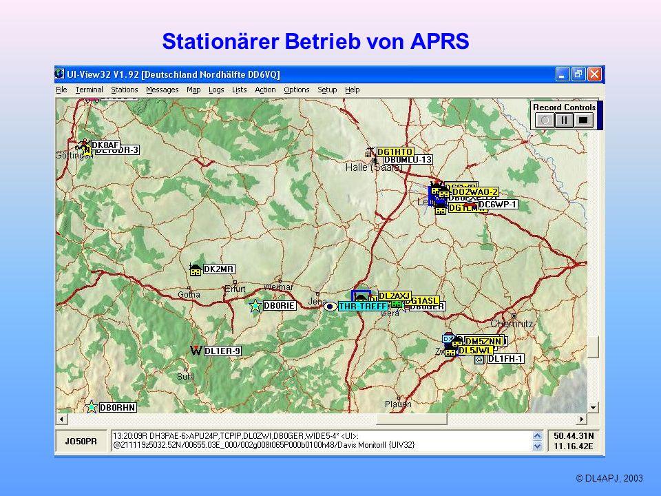 Stationärer Betrieb von APRS