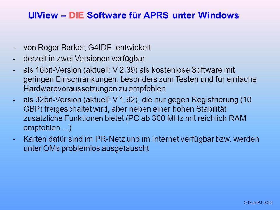 UIView – DIE Software für APRS unter Windows